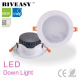 Proyector negro LED Downlight de 12W LED con Ce&RoHS