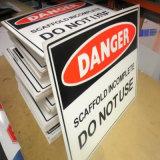 Водоустойчивая нестандартная конструкция рекламируя пластичные знаки доски Corflute