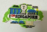 Imán suave del refrigerador del PVC de los recuerdos del recorrido de Singapur