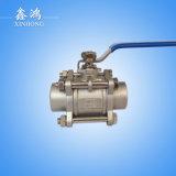 304 robinet à tournant sphérique soudé d'acier inoxydable par 3PC Dn15
