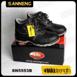 Del cuero de zapatos de seguridad industrial con Nueva PU / PU Sole (Sn5553)