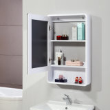 أبيض طلاء لّك [بثرووم كبينت] وحدة مع مرآة خزانة