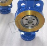 Válvula de borboleta industrial da chave de Dbv Dn80 Wcb