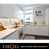 明白な白L形の台所家具(AP121)