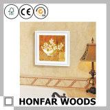 Cadre carré en bois blanc pour décoration intérieure