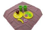 brinquedo ajustado do piquenique 12PCS de madeira para miúdos e crianças