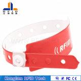 Wristband elegante del PVC RFID de las varias virutas de alta frecuencia