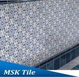 Azulejo azul y blanco Mskqhc006 de la inyección de tinta del suelo del hexágono