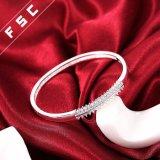 Braccialetti placcati argento alla moda di disegno semplice del braccialetto del polsino con la CZ