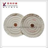 アルミニウム定規ミラーの仕上げのための綿モスリンの磨く磨く車輪