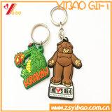 Indicateur de clé personnalisé de PVC, porte-clés pour le cadeau promotionnel (YB-PK-03)