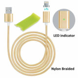 Nylon trenzado magnético cable de carga USB para iPhone y Android