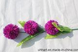 のどによっては結婚式の装飾のための人工的なアジサイの球が開花する