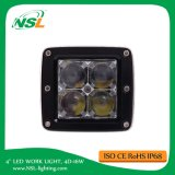 4inch 4D 16W LED luz de trabajo Bar Offroad Flood Driving Lamp SUV camión ATV Road barco