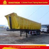 Sinotruk 60tonsのトラックのダンプカーはまたは3つの車軸トレーラーを半ダンプする