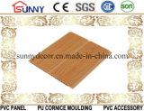 プラスチック建築材料、木カラー壁パネル、PVC天井板、Cielo Raso De PVC