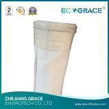 Sachet filtre tissé de la poussière de fibre de verre d'E-Classe avec l'enduit de PTFE