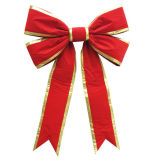 Смычок красного рождества структурно для украшения праздника