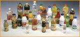 Pieza inserta automática de la escritura de la etiqueta de la botella y encogedora