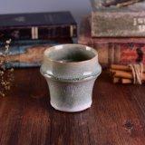 Choc en céramique de bougie de forme en bambou