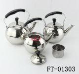нержавеющая сталь 3PC с баком чая ручки бакелита фильтра (FT-01303)