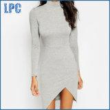 Lange Hülsen-elegantes Abend-Kleid mit vorderem Luftauslaß für Frauen