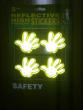 Autoadesivo fluorescente lampeggiante del fronte di sorriso
