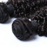 Качество фабрики волос гарантировало человеческие волосы скручиваемости Remy девственницы человека 100% Kinky (SL-HE7A004)