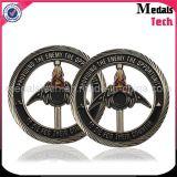 Morrer moedas gravadas Eadge personalizadas de bronze golpeadas do diamante