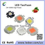高い発電LEDチップ660nm深紅のLEDは軽い440nm 380nm-840nmの穂軸1-100Wを育てる