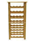 28의 병 지면 서 있는 포도주 선반, 튼튼한 단단한 경재 가구 선반