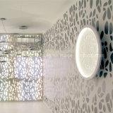 독창성 현대 섬유유리 LED 원형 박아 넣어진 꽃 패턴 천장 램프