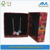 Декоративным изготовленный на заказ напечатанная логосом бумажная коробка подарка ювелирных изделий для кольца и ожерелья