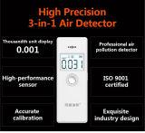 Monitor elegante multi de interior Hcho de la calidad del aire y detector de Tvoc