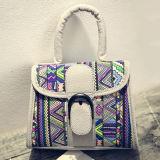 Sac d'épaule de créateur de sacs à main de couleur de contraste de cartables pour les dames Sy7907