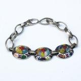 Bracelet sain extrême d'énergie de couleur de bijou de mode d'acier inoxydable