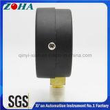 """"""" manomètre de normale de l'exactitude 1.0% du diamètre 100mm/4 avec la caisse en laiton d'acier de noir de connecteur"""