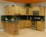 단단한 Maple Solid Wood Frame Less Upper Kitchen Cabinets 및 Lower Cabinets