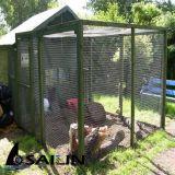 Rede de fio sextavada para gaiolas do coelho e da galinha