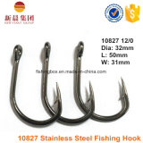 Silver Color Stainless Steel Hoodlum Livebait Crochet de pêche 10827