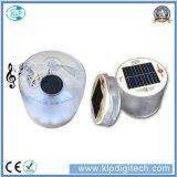 Bluetooth 스피커를 가진 야영 태양 LED 손전등을 하이킹해서 음악을 즐기십시오