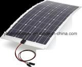 el mono panel solar Semi-Flexible 100W para el cargador de batería 12V del barco de rv que acampa