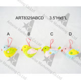 "3.5 "" Hx5 "" L decoración Bird-4asst. de Pascua de la tela"