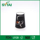 Tazas de café de papel disponibles de la insignia de Custom Company con las tapas