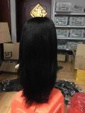 Выдвижение курчавых волос Yaki Weft девственницы человеческих волос Remy бразильское