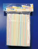 La tira colorea la paja de beber plástica del conjunto del bolso de 200PCS OPP