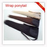 Caliente resistir el clip sintético del pedazo del pelo de la extensión del pelo en Ponytail