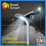 15W luz solar de la calle LED con el panel solar ajustable