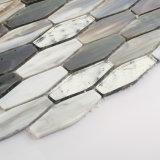 Tuile de mosaïque faite au hasard en verre souillé de noir de modèles pour la cuisine Backsplash