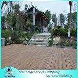 Sitio de bambú pesado tejido hilo al aire libre de bambú 40 del chalet del suelo del Decking